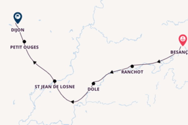 Expedition with CroisiEurope from Besançon to Dijon