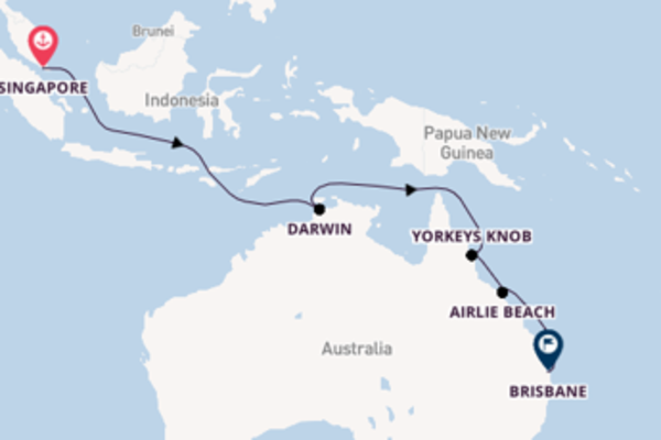 Travelling from Singapore to Brisbane