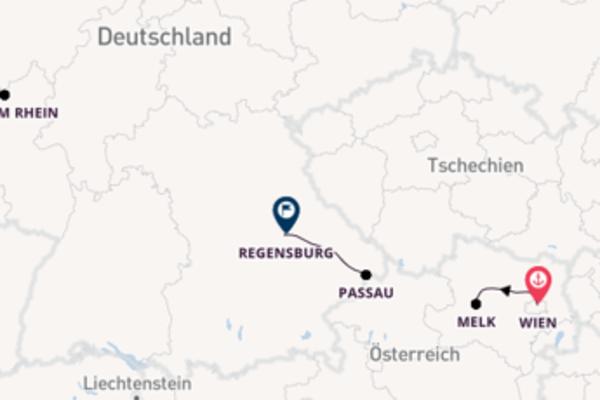 Wunderschöne Reise von Wien nach Regensburg mit VIVA Cruises