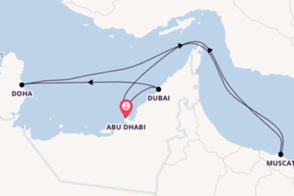 Kreuzfahrt mit der AIDAcosma nach Abu Dhabi