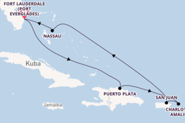 Begeisternde Reise ab Fort Lauderdale (Port Everglades)