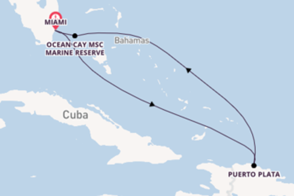 Delightful trip from Miami with MSC Cruises