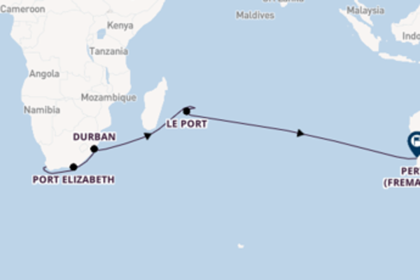 19 day voyage to Perth from Cape Town