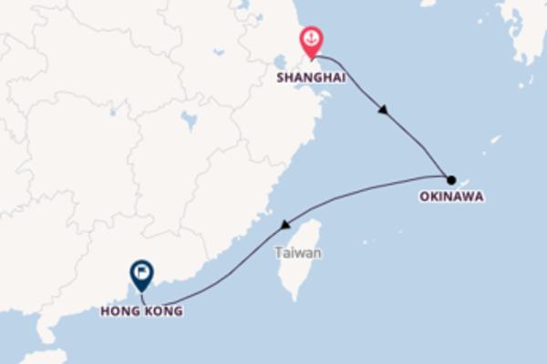 Sailing from Shanghai via Okinawa