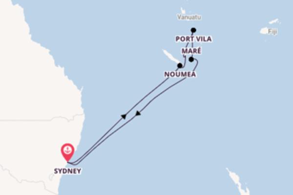Salpando i mari da Sydney