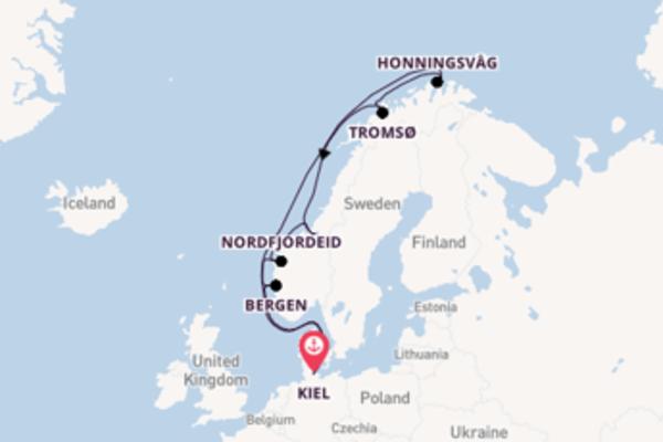 Cruise naar het noordelijkste puntje van Noorwegen