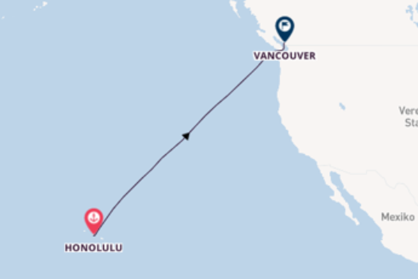 9-tägige Kreuzfahrt bis Vancouver