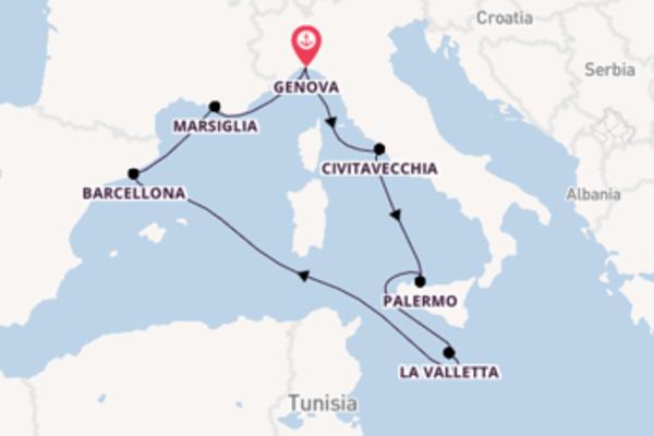 Il Mediterraneo in 7 giorni a bordo della Grandiosa