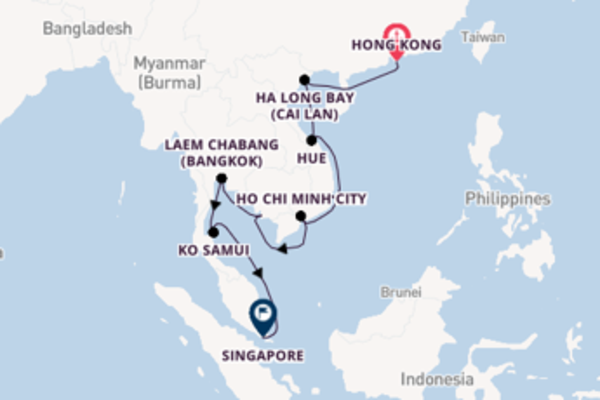15 day trip to Singapore from Hong Kong