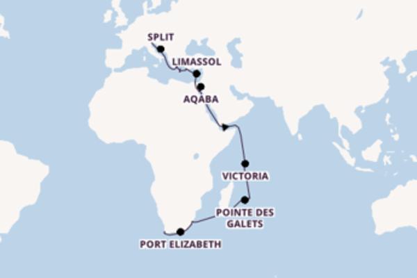 34 jours de navigation à bord du bateau MSC Opera depuis Venise