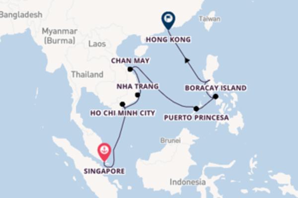 Sailing from Singapore to Hong Kong
