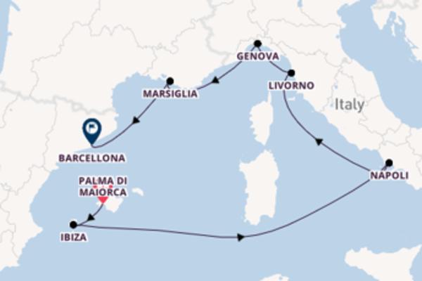 Prendere il largo verso Barcellona da Palma di Maiorca