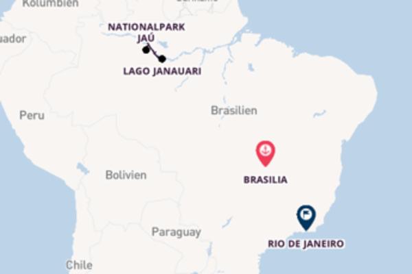 Fantastische Kreuzfahrt von Brasilia nach Rio de Janeiro