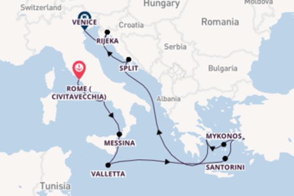 Cruise with Celebrity Cruises from Rome (Civitavecchia)