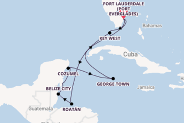 10 day journey from Fort Lauderdale (Port Everglades)