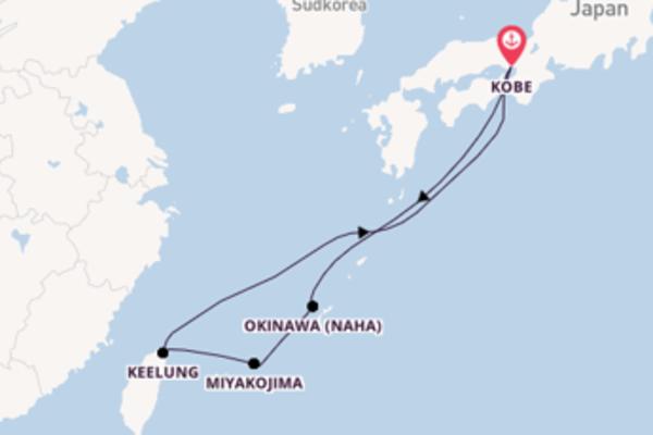 Erleben Sie 8 Tage Keelung und Kobe