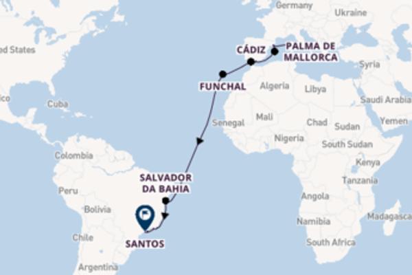 In 21 dagen naar Santos