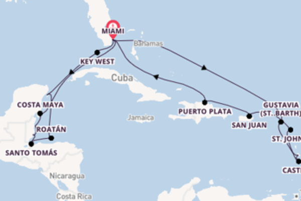 21 day voyage from Miami