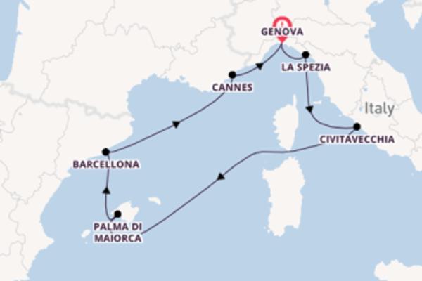 Straordinaria crociera verso Genova