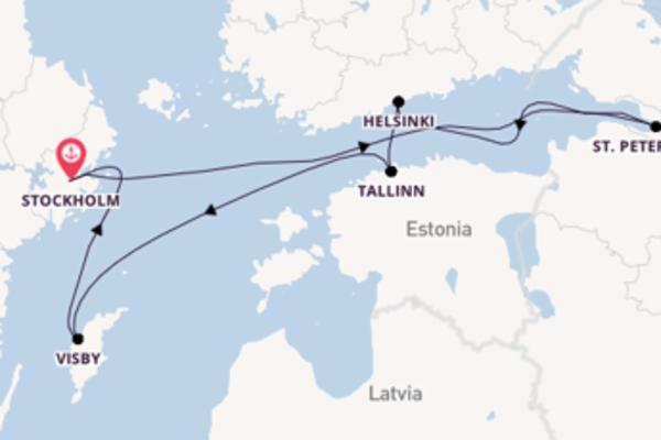 Cruising from Stockholm via Helsinki