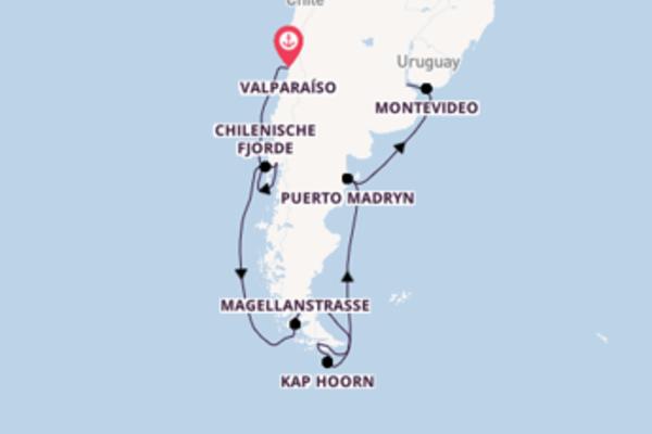 13-tägige Kreuzfahrt von Valparaíso nach Buenos Aires