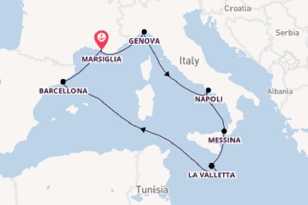 Scopri Italia, Francia e Spagna a bordo di MSC Seashore