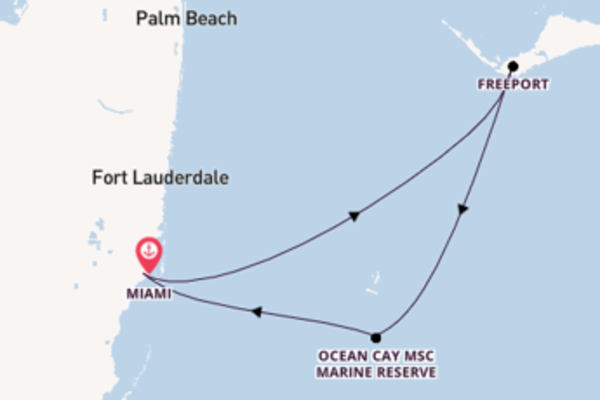 Trip with MSC Cruises from Miami