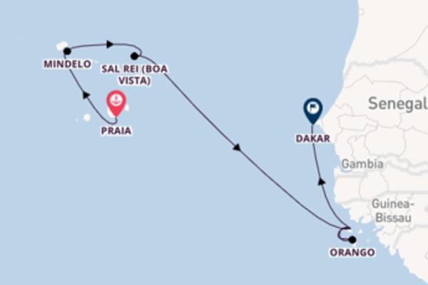 In 9 Tagen nach Dakar