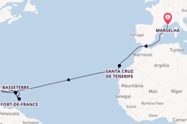 Cruzeiro de 20 dias a bordo do Costa Fortuna