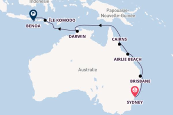 14 jours pour découvrir Île Komodo au départ de Sydney