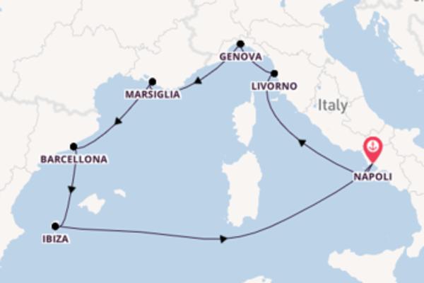 Romantico viaggio da Napoli verso Barcellona