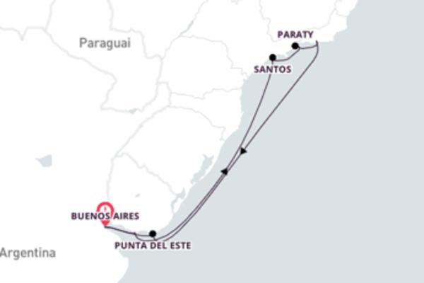 Jornada de 13 dias até Buenos Aires com o Azamara Quest