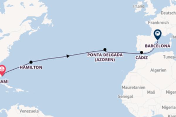 15-tägige Kreuzfahrt ab Miami