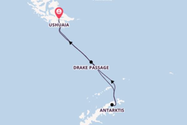 Fantastische Kreuzfahrt über Drake Passage, Antarktis ab Ushuaia, Argentinien