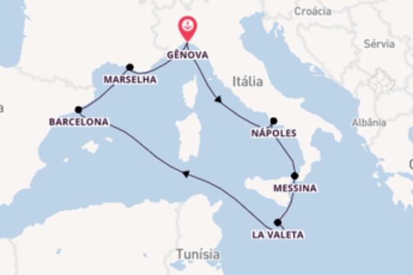 Empolgante viagem de 8 dias a bordo do MSC Seashore