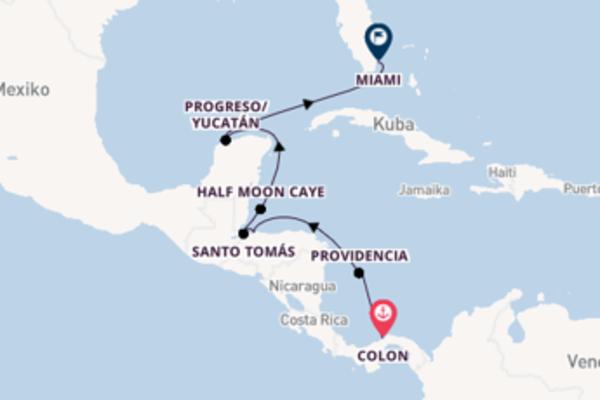 Kreuzfahrt mit Le Boréal von Colon nach Miami
