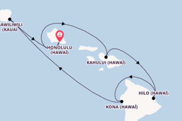 Mémorable croisière vers Honolulu via Hilo
