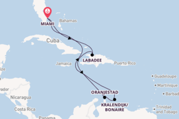Lasciati affascinare da Oranjestad e Miami