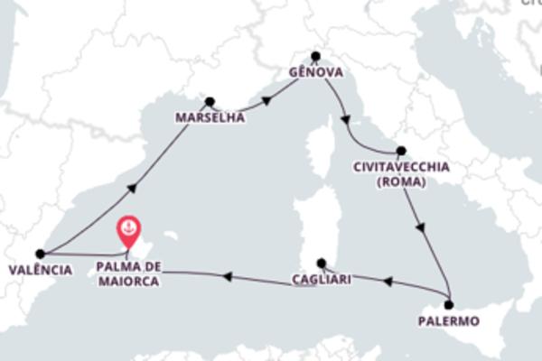 Cruzeiro de 8 dias a bordo do MSC Fantasia