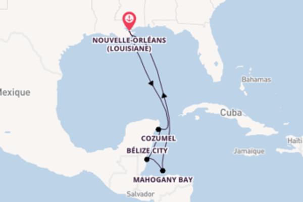 Belize City et une incontournable croisière depuis Nouvelle-Orléans