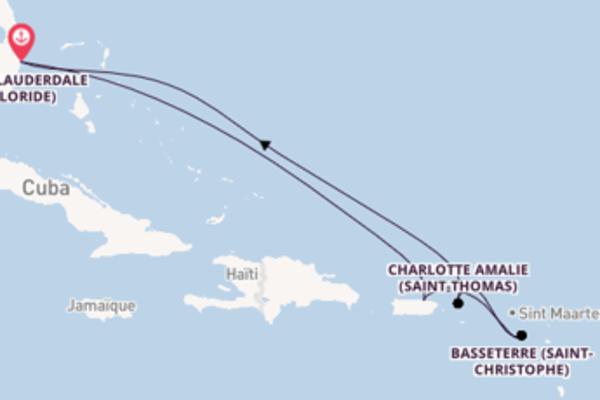 Basseterre (Saint-Christophe) depuis Fort Lauderdale (Floride) pour une croisière de 8 jours