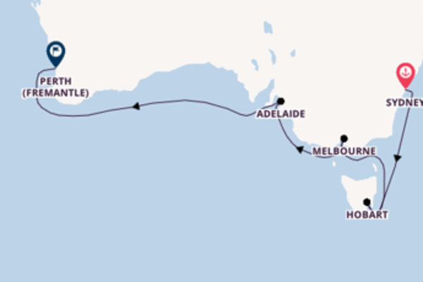 Travelling with Princess Cruises from Sydney to Perth