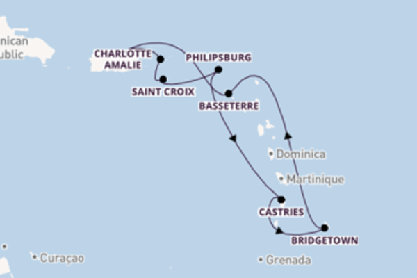 8 day voyage on board the Explorer of the Seas from San Juan