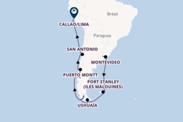 Élégante balade de 22 jours à bord du bateau Seven Seas Voyager