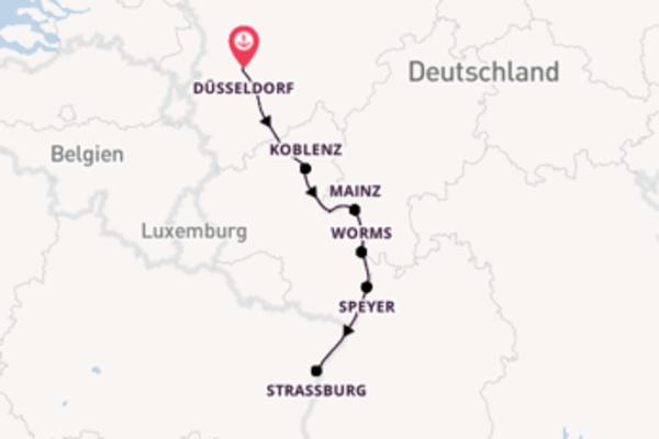 Kreuzfahrt mit der Elegant Lady* nach Düsseldorf