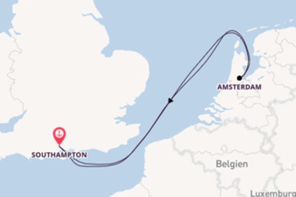 In 5 Tagen nach Southampton