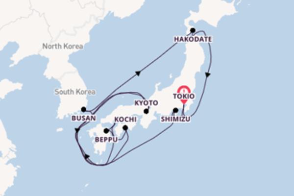 15-daagse cruise met de Celebrity Millennium vanuit Tokio