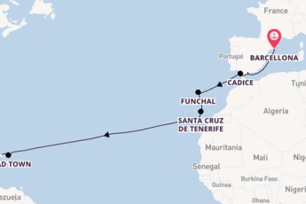 Da Barcellona a San Juan in 14 giorni