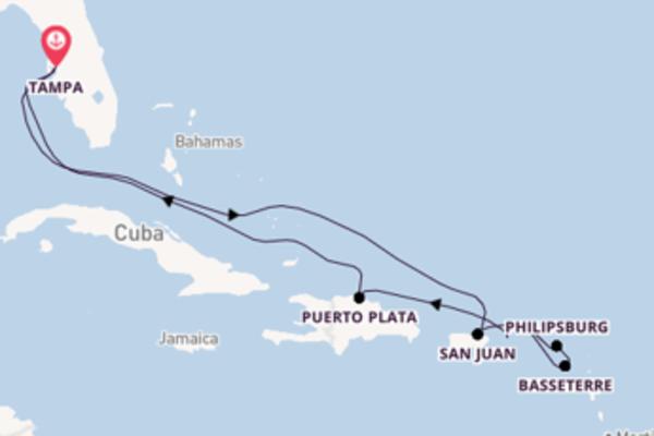 Cruise in 11 dagen naar Tampa met Celebrity Cruises