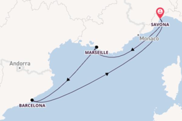 Wunderbare Kreuzfahrt mit der Costa Favolosa